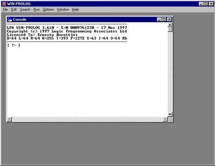 Esempio d'uso del LPA-Prolog
