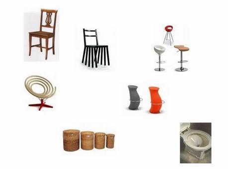Affordance di sedie. Fonte: catalogo Ikea.