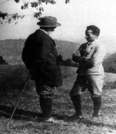 Edmund Husserl e Martin Heidegger a Friburgo. Imamgine da: Filosofia e storia