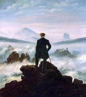 C. D. Friedrich, Viandante sul mare di nebbia (1818), Kunsthalle, Hamburg (da: Wikipedia )