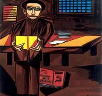 """G. Viola, """"Antonio Gramsci"""" (1972). Da:  Museo della pace"""