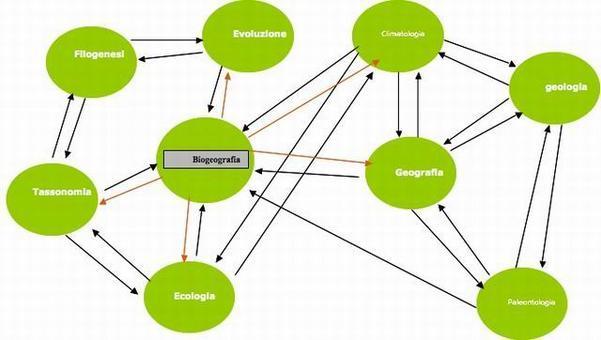 La Biogeografia utilizza e compendia gli assunti di molte discipline.