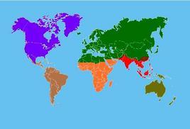 Le principali regioni zoogeografiche. Fonte  Wikipedia.