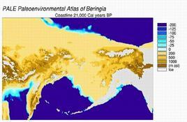 Beringia. Fonte  Wikipedia .
