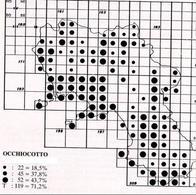 Tratto da Fraissinet M. e Kalby M. (1989) Atlante degli uccelli nidificanti e svernanti in Campania, Reg. Campania ed.