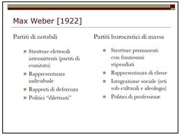 L'analisi organizzativa in Max Weber, da S. Vassallo, Corso di Scienza Politica UniBo, aa 2010/2011