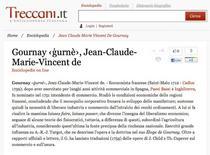 de Gournay in Enciclopedia delle Scienze Sociali, Treccani