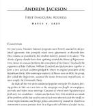 Accedi al discorso inaugurale di Jackson del 1829