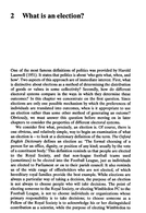 What is an election, da A. Reeve e A. Ware, Electoral System, p.17