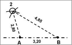 Restituzione del punto C con il metodo della trilaterazione