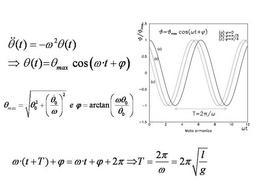Oscillazioni armoniche del pendolo semplice