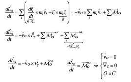 La seconda equazione cardinale della dinamica