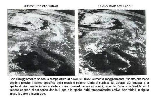 L'Italia alle 9,00 e 15.00 del 15-08-1986