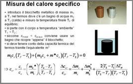 Procedura di misura per il calore specifico di corpi metallici