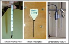 Termometri di uso frequente in laboratorio
