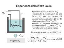 Esperienza per l'equivalente elettrico del calore