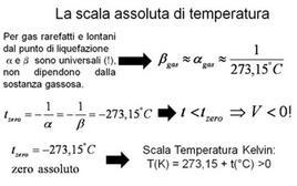L'origine della scala assoluta delle temperature
