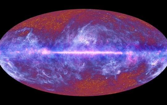 Termografia della Via Lattea e dell'Universo fatta dal satellite Planck. Fonte: ESA