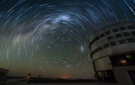 La sfera celeste attorno al Polo Australe. Fonte: ESO.