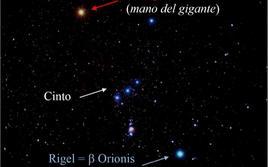 Costellazione di Orione, costituita da circa 130 stelle visibili. Il gigante mitologico si trova cosi suoi Cani (Maggiore e Minore) a caccia del Toro e della Lepre in prossimità del fiume Eridano. Fonte: Massimo Capaccioli