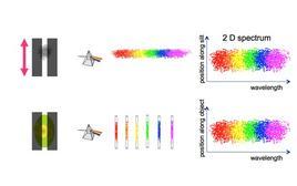 Schema di uno spettro 2D. Fonte: M. Capaccioli.