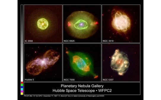 Alcuni esempi di nebulose planetarie ossevate con il telescopio spaziale. Fonte: NASA
