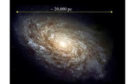 Caratteristica galassia a spirale, non molto dissimile dall'aspetto che dovrebbe avere, per un osservatore esterno ad essa, la nostra Via Lattea. Fonte: ESO.