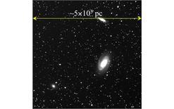 Gruppo di galassie dell'Orsa Maggiore. Fonte: AAVSO