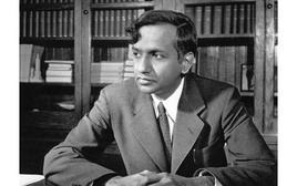 Il giovane Subrahmanyan Chandrasekhar (1910-1995).