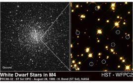Nane biance nell'ammasso globulare Messier 4. Fonte: NASA.