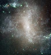Immagine con il telescopio spaziale Hubble della galassia a spirale  NGC 1313. Fonte: ESA/NASA.