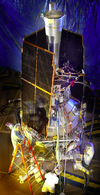 Il satellite Gravity Probe B. Fonte: NASA
