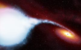 Rappresentazione artistica del sistema binario con buco nero Cygnus x-1. Fonte: ESA/NASA.