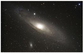 M31, the giant spiral companion of the Milky Way, with its spheroidal satellite NGC 205. Credit: KPNO.