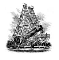 Picture of William Herschel's 40-foot telescope published in Leisure Hour in 1867.
