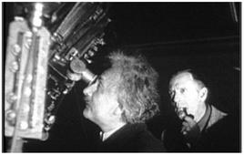 Einstein with Hubble at the Mt.Wilson 100-inch telescope in 1931. There he first heard of the universe expansion.