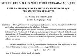 G. de Vaucouleurs, Annales d'Astrophysique, 11, 247, 1948.