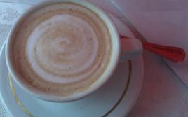 What's the difference between the spiral pattern in a cappuccino and in a disk galaxy?