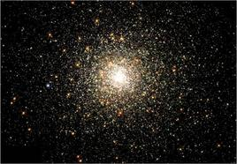 Galactic globular cluster M80 = NGC 6093 in Scorpius, pictured by HST. Credit: NASA  (HST).