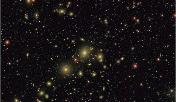 The Perseus cluster of galaxies. Credit: SDSS.