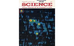 Cover of Science magazine, reporting the discovery of the lensed quasar QSO 0957+561.
