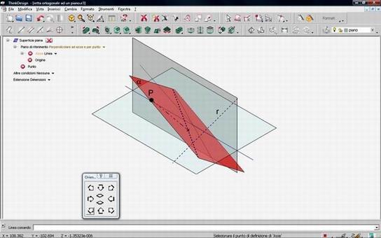 Fig. 11 – piano passante per un punto perpendicolare ad una retta