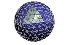 Fig. 1 – rappresentazione di una sfera utilizzando una superficie poliedrica.