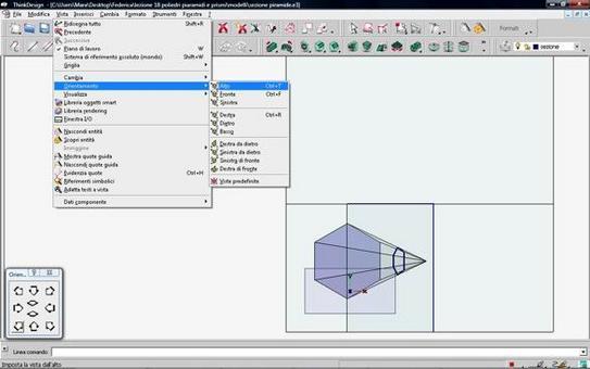 Fig. 9 – sezione piana di una piramide – prima proiezione ortogonale.