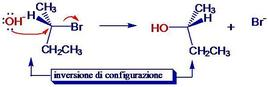 Es. di inversione di Walden. Fonte: Seyhan Eğe, La Chimica Organica Essenziale, Idelson-Gnocchi, 2008