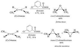 Esempi di ossidazione degli alcheni con perossiacidi. Fonte: Seyhan Eğe, La Chimica Organica Essenziale, Idelson-Gnocchi, 2008