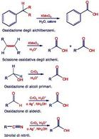 Preparazione degli acidi carbossilici. Fonte: Seyhan Eğe, La Chimica Organica Essenziale, Idelson-Gnocchi, 2008