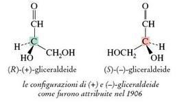 La gliceraldeide. Fonte: Seyhan Eğe, La Chimica Organica Essenziale, Idelson-Gnocchi, 2008