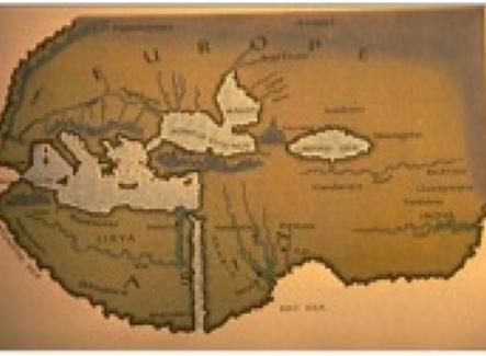 La Mappa del Mondo secondo Erodoto Fonte: Physalus