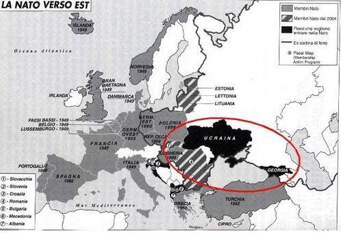 Importanza militare della regione per gli Stati Uniti d'America. Elaborazione Nicolino Castiello su fonte: Limes, 6 (2008)